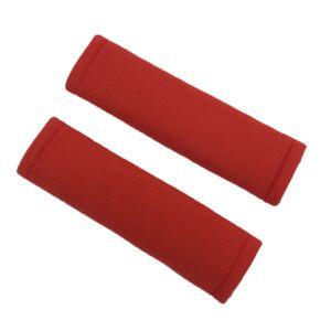 2er Set Sicherheitsgurt Gurtpolster Auto Gurtschoner Autogurt Sanft Gurtschutz, Rot