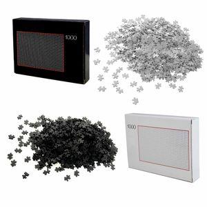 2er Set Puzzle 1000 Teile Schwarz und Weiß Schwer Erwachsene | Erwachsenenpuzzle | Premiumpuzzle Geduldsspiel | Erwachsene Knobelspiel