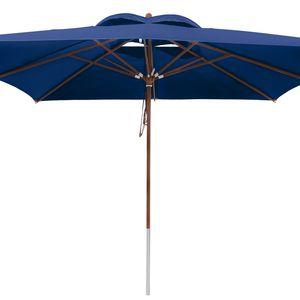 anndora Sonnenschirm 4x4 m - blau - Blau (Navy)