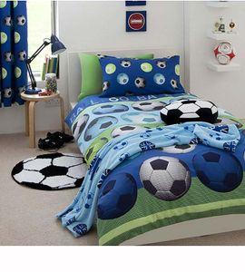 Bettwäsche Fußball Sport blau 135x200/ 50x75cm