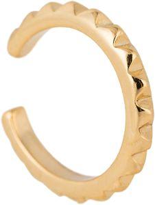 styleBREAKER Damen Ear Cuff Klemm Ohrring mit Zacken Muster, Ohrstecker, Ohrclip, Fake Piercing, Helix 05090020, Farbe:Gold