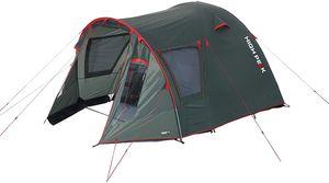 High Peak Familien-Tunnelzelt 4 Personen, mit Vordach für Camping und Outdoor 190T Polyester 3.000 mm, atmungsaktiv und wasserdicht, inkl. Tragetasche