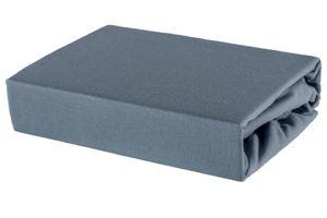 Bettlaken Spannbettlaken Laken aus Baumwolle 100% Jersey – 80x180 Anthrazit
