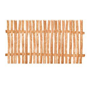 Zaunelement Haselnuss - 90 Größen - 150 x 120 cm (3-4 cm) - Staketenzaun Bausatz für Lattenzaun / Bretterzaun aus Haselnuss inkl. Querriegel, Zaunlatten und Schrauben