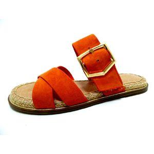 Tamaris Damen Pantolette orange 1-1-27134-36 Größe: 42 EU