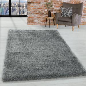 Super Soft Shaggy Hochflor Teppich Wohnzimmerteppich Flor Weich, Farbe:Hellgrau, Grösse:160x230 cm