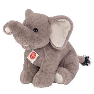 Teddy Hermann Collection Elefant Sitzend, Kuscheltier, Stofftier, Plüschtier, Wildtier, Grau, 35 cm, 907428