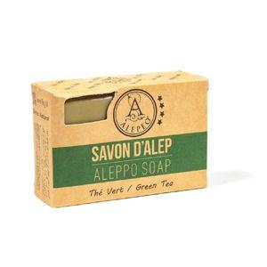 Seife Aleppo Grüner Tee tägliche Reinigung von Haar und Körper 100 g