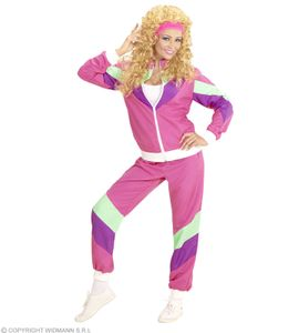 Kostüm 80er Jahre Dame Trainingsanzug Jogginganzug 80ties Verkleidung M - 38/40