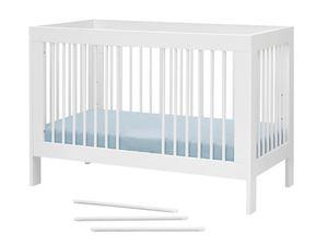 Pinio Babybett Basic Weiß 60 x 120 cm 3-fach höhenverstellbar