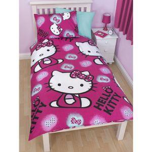 Hello Kitty Mädchen Wende Bettwäsche Ink KB756 (Einzelbett) (Fuchsia)