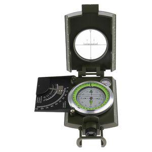 Hochpräzise Profi Peilkompass mit Leuchtziffern Metall Taschenkompass Marschkompass mit Neigungsmesser Für  Outdoor Sport Camping Wandern...