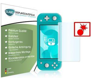 """2x Slabo Panzerschutzfolie für Nintendo Switch Lite KLAR """"Shockproof"""" Displayfolie Schutzfolie Folie"""