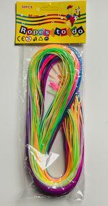 1 Päckchen  Scoubidou Bänder, Flechtschnüre, Länge 80 cm, 50 Stück sortiert in 10 Farben