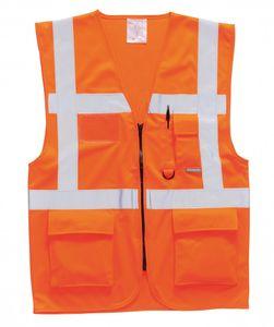 PORTWEST Warnweste S476 orange Warnschutzweste Profi EN 20471 Klasse 2, Größe:M