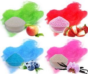 Aromazucker für bunte Zuckerwatte 4x250g Set mit Geschmack | Apfel - Grün, Erdbeer - Rot, Heidelbeere - Blau, Vanille - Pink | Farbaromazucker und Dekorzucker für Zuckerwattemachinen