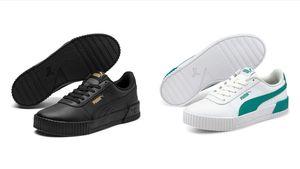Puma CARINA L Damen Streetstyle Sneaker Clubwear, Größe:UK 6 - EUR 39 - 25 cm, Farbe:Schwarz (Puma Black)