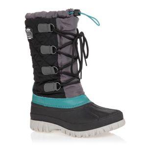 Winter-grip Damen Schneestiefel Sr Winter Wanderer Schwarz/Anthrazit/Grüngrau Winter-Schuhe, Größe:42