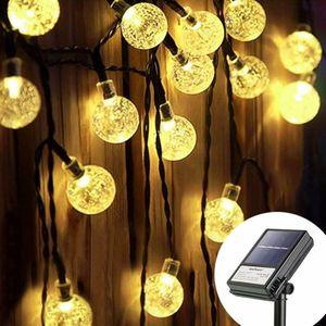 30LED Solar Kugel Lichterkette Garten Außen Outdoor Beleuchtung Lampe Party Licht  dimmbar mit Timer warmweiss