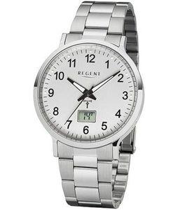 Regent FR-248 Herren Funk-Armbanduhr mit Stahlband Ø 40 mm