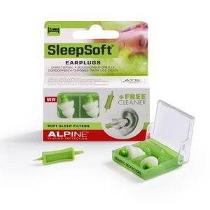 ALPINE SleepSoft Ohrstöpsel zum Schlafen & Dämpft Schnarch Geräusche 1 Paar