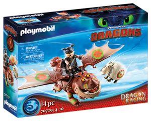 PLAYMOBIL Dragons 70729 Dragon Racing: Fischbein und Fleischklops