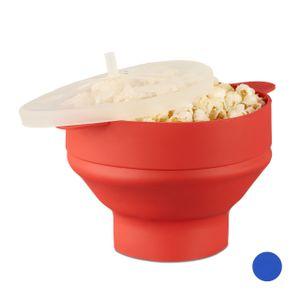 relaxdays Popcorn Maker Silikon für die Mikrowelle