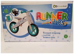 Kinderkraft Runner Laufrad aus Holz mit Tasche und Klingel, Sterne