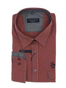 Casual Fit Langarm Hemd von Casa Moda, orange, Größe:3XL