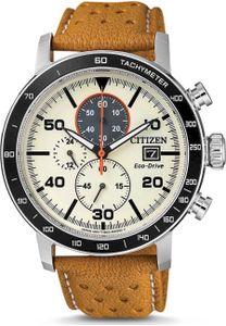 Citizen CA0641-16X Chrono Chronograph Uhr Herrenuhr Leder Datum Braun