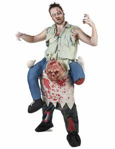 Zombie-Huckepack-Kostüm Halloween-Herrenkostüm bunt