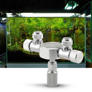 Aquarium CO2 Splitter Regulator Verteilernadel Feinregulierventil für CO2-Regulator mit 2-Wege-Auslässen