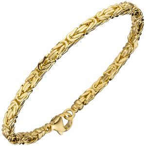 3,2mm Armband Armkette Königskette aus 333 Gold Gelbgold glänzend 19cm
