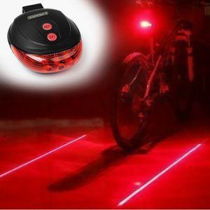 5 LED Laser Beleuchtung Lampe Rücklicht Fahrradlicht Fahrradlampe Fahrrad Lampe