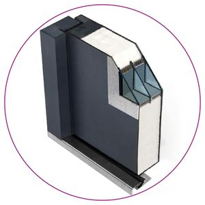 vidaXL Haustür Aluminium Weiß 110x207,5 cm