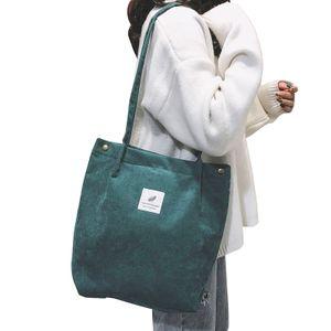 Frauen Umhaengetaschen Cord Totes Vintage Holiday Beach Wiederverwendbare Einkaufstaschen Studenten Reisen Casual Handtasche