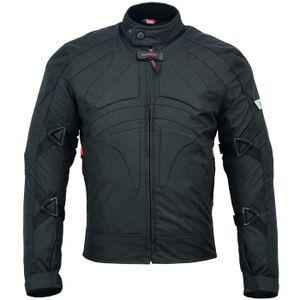 Motorradjacke Cordura Textilien kurze Jacke Schwarz, Größe:52/L