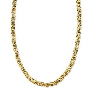 5 mm Königskette Armband Herrenkette Männer Kette Halskette, 22 cm Gold Edelstahl Ketten