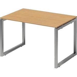 Bisley Schreibtisch Cito O 1200x740x800mm silber/buche