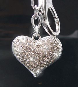 Anhänger Tasche Schlüsselanhänger Herz Silber Strass Taschenanhänger TH262