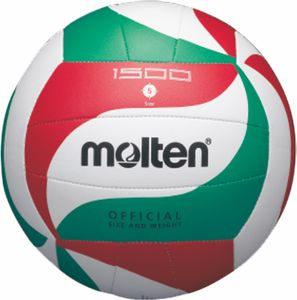 molten Volleyball Trainingsball Weiß/Grün/Rot V5M1500 Gr. 5