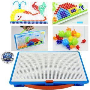 296 Stecker Mosaik-Steckspiel Montessori Kreativ Spielzeug 3D Puzzle Pädagogisch Steckmosaik Spielzeug Geschenkset für Kinder
