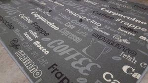 Küchenläufer 80 x 300 cm Küchenteppich Teppichläufer Kaffee Grau Teppich Läufer