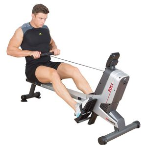 HAMMER Rudergerät RX1 für zu Hause - klappbare Rudermaschine mit Magnetbremssystem, kugelgelagertem Sitz, bis 110 kg Nutzergewicht und integriertem Pulsempfänger für Brustgurte