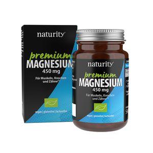 PREMIUM MAGNESIUM 450 mg, mit hochwertigem Magnesiumoxid, 450 mg Magnesium pro Tablette, zur Untersützung von Muskeln, Knochen & Psyche