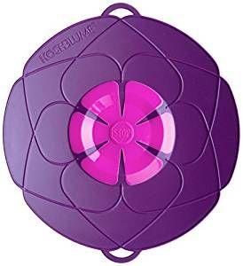 Kochblume das Original - der Überkoch-Schutzdeckel mittel  29 cm Farbe lila