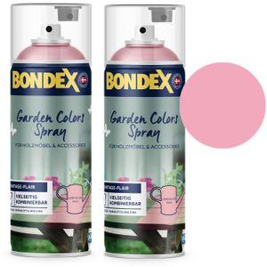 Bondex Garden Colors Spray Holzfarbe Vintage, Liebevolles Rosa, Sparpack 2x400ml