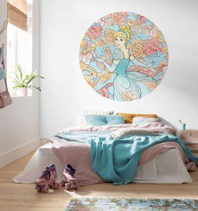 """Komar Vlies Fototapete rund und selbstklebend """"Cinderella Pastel Dreams"""" - Größe: 125 x 125 cm (Breite x Höhe) - 1 Stück"""