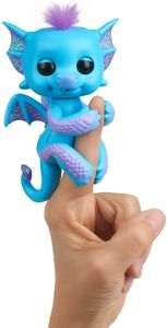 WowWee 3581 - Fingerlings - Glitzer-Babydrache Tara, blau