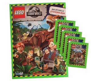 Blue Ocean Jurassic World Lego Sticker (2020) - 1 Album + 5 Tüten - Sammelsticker